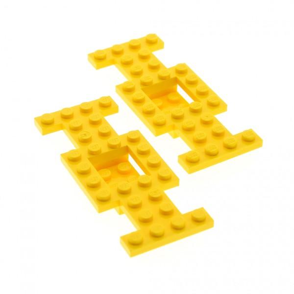 2 x Lego System Fahrgestell gelb 4 x 10 x 2/3 LKW Unterbau Platte Chassis 4212b