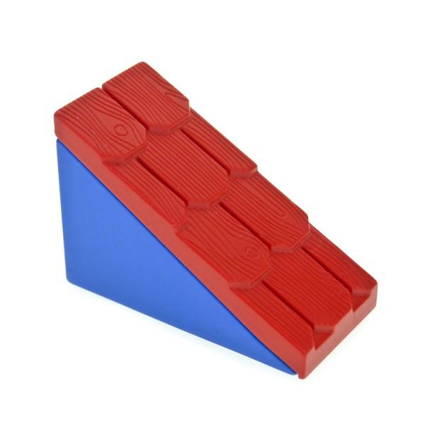1 x Lego Duplo Dach rot blau 33° 2 x 4 Element schmal klein für Puppenhaus Polizei Super Markt Set 9167 2672 2211