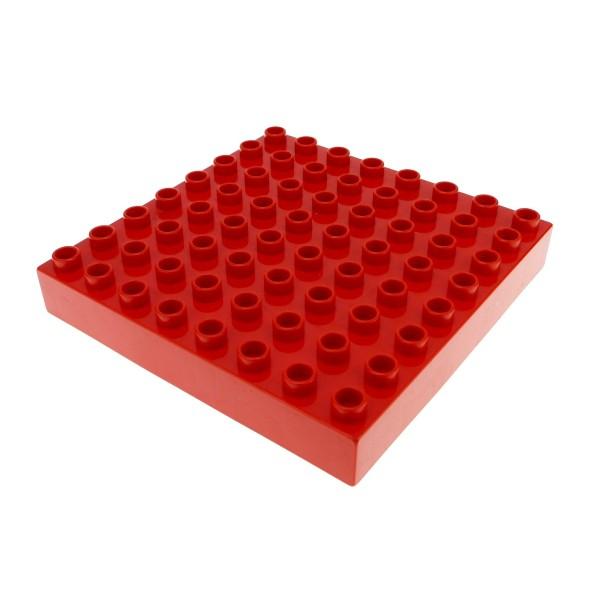 1 x Lego Duplo Bau Basic Platte 8x8 rot dick 8 x 8 Noppen Puppenhaus Set 5359 31113