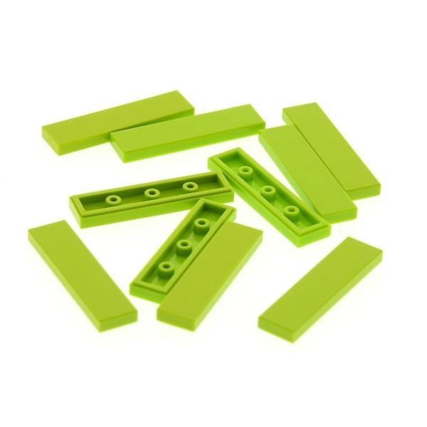 10 x Lego System Fliese Platte lime hell grün 1x4 Paneele Set 3315 8108 3189 3942 41055 4164021 91143 35371 2431