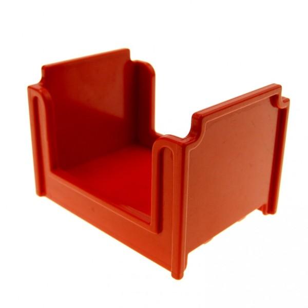 1 x Lego Duplo Möbel Bett rot Puppenbett Schlafzimmer Puppenhaus Set 9148 2942 4886