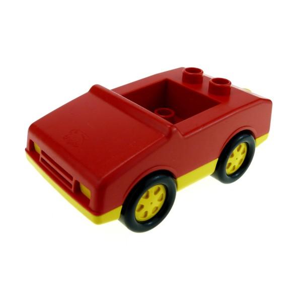 1 x Lego Duplo Fahrzeug Auto rot gelb PKW für Feuerwehrwagen 4 Noppen im Sitz klein Set 2690 2692 2235
