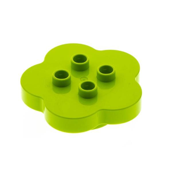 1x Lego Duplo Möbel Tisch lime hell grün 4x4 Blume Blüte Salat 6054622 15515