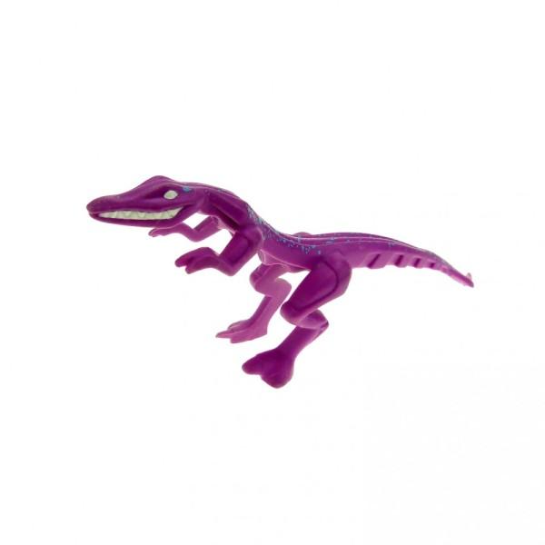 1 x Lego System Tier Dinosaurier Raptor hell lila pink rosa Mutant Lizard Eidechse Punkte blau Dino Attack 7296 7475 54125pb02