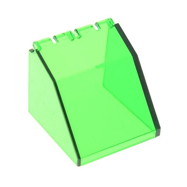 1 x Lego System Cockpit transparent grün 4 x 4 x 3 Windschutzscheibe Raumschiff Kanzel Kuppel Fenster Windscreen Set 6332 6636 6977 2620