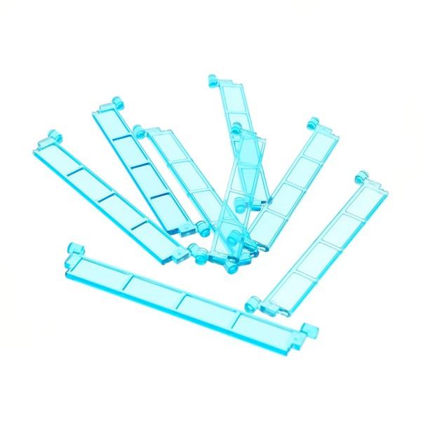 8 x Lego System Rolltor Lamelle transparent hell blau ohne Griff Tür Element Garage 4218