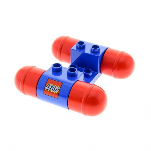 1x Lego Duplo Auto Fahrzeug Base blau Räder rot Fahrgestell Set 2400 31216b