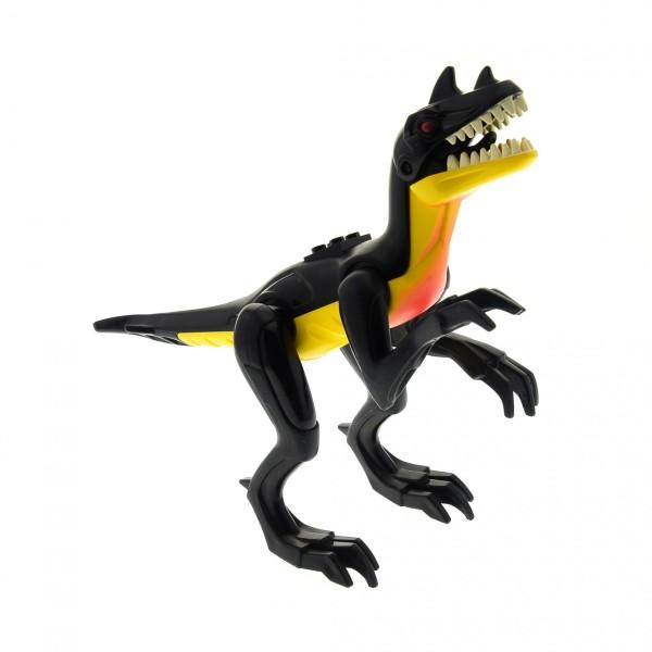 1 x Lego System Tier Dinosaurier Raptor Dino 2010 gelb schwarz Saurier Saurus 7295 7474 Raptor01