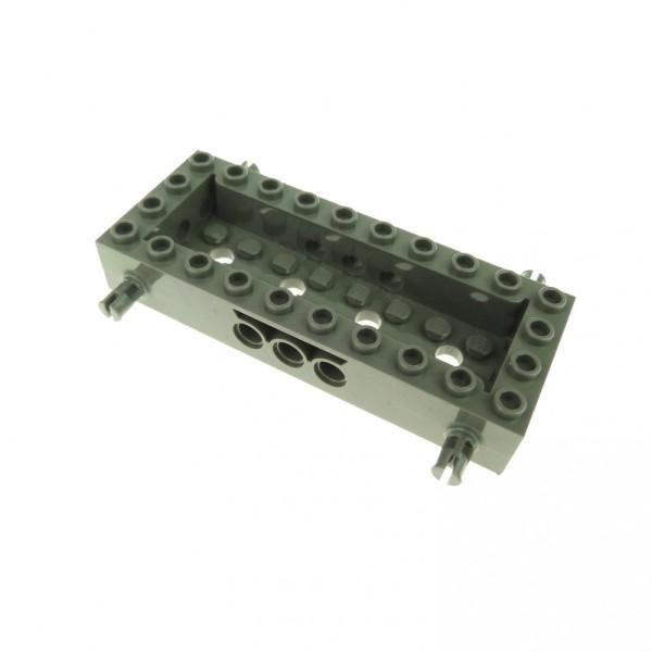 1 x Lego System Fahrgestell alt-dunkel grau 4 x 10 x 1 1/3 LKW Unterbau Auto Platte Chassis 30643