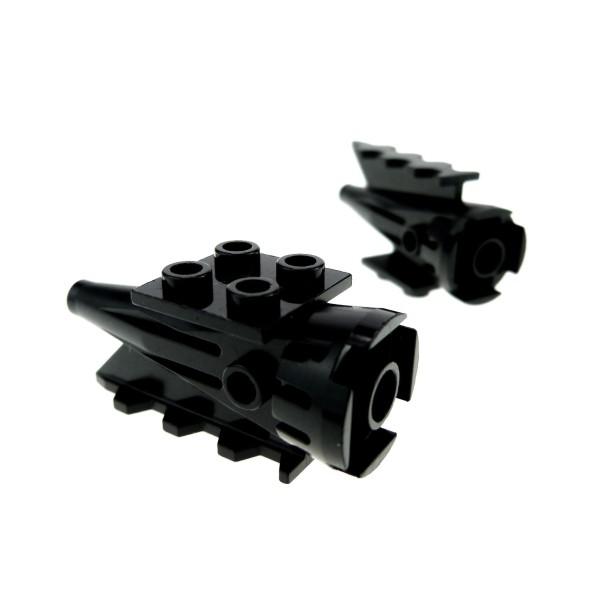 2 x Lego System Triebwerk schwarz 4x2x2 Turbine Düse Rakete Engine 4551 8429 6915 6959 4746
