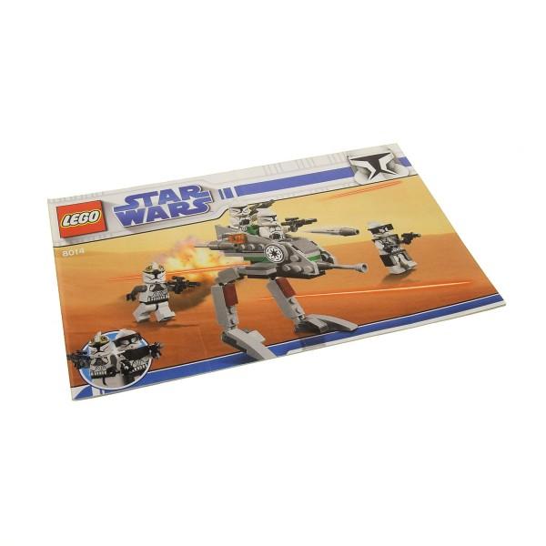 1 x Lego System Bauanleitung A5 für Star Wars Clone Wars Clone Walker Battle Pack 8014