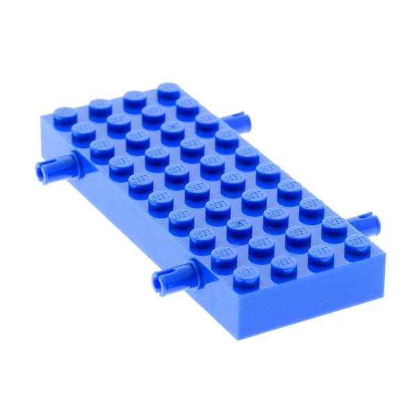 1x Lego Fahrgestell 4x10 blau 4 Pins LKW Platte Chassis Unterbau 4144349 30076