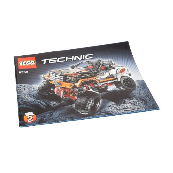 1 x Lego Technic Bauanleitung A4 Heft 2 für Set Off-Road 4x4 Crawler 9398