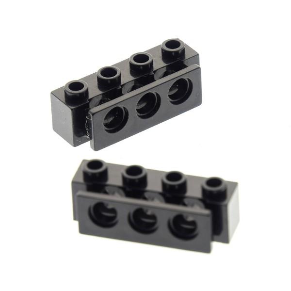 2 x Lego System Halter für Gummi Puffer schwarz 1x4 gerade Stoßstangen für Set 6473 8824 8872 4216376 2989