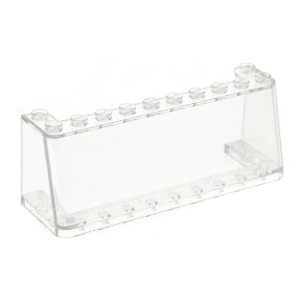 1 x Lego System Windschutzscheibe transparent klar 3x10x3 Windscreen Kanzel Cockpit Kuppel Fenster weiss 2694