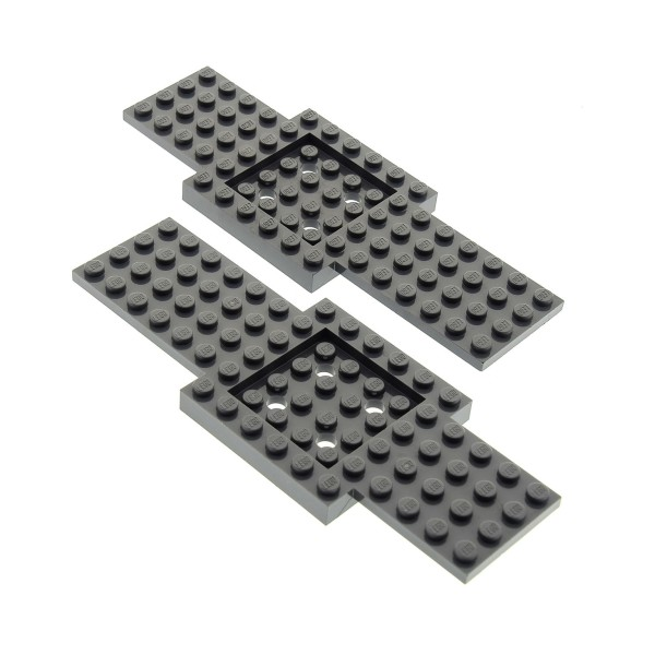 2 x Lego System Bau Platte 6x16 neu-dunkel grau Auto LKW Unterbau 6 x 16 Noppen Fahrgestell Chassis Set 7286 7642 7945 4259901 52037