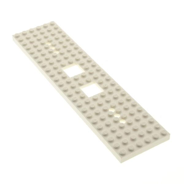 1x Lego Bau Platte weiß 24x6 Zug 3 Löcher an jedem Ende Typ1 Eisenbahn 92340