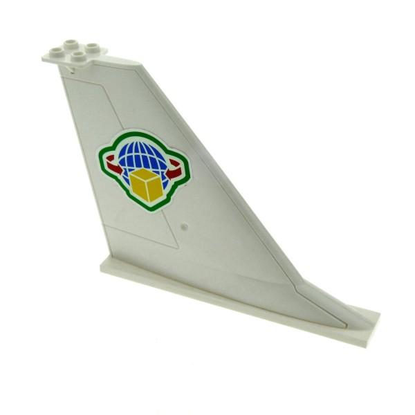 1x Lego Heck Leitwerk weiß 14x2x8 Flosse Sticker Flugzeug Set 7734 54094pb02