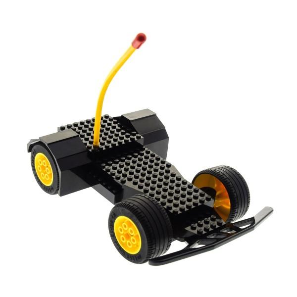 1 x Lego Technic Electric Radio Control Racer Auto RC DEFEKT schwarz mit Antenne gelb ohne Stoßstange 5599 5600 x491c01*
