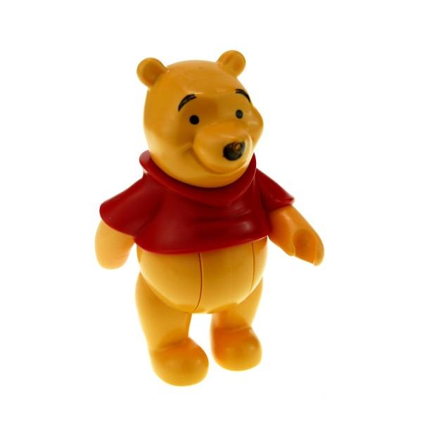 1 x Lego Duplo Disney Figur Winnie the Pooh hell orange Pullover rot Tier Puh Bär pooh