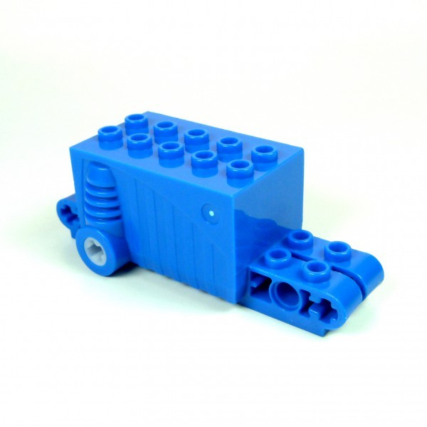 1 x Lego Technik Rückzieh Motor blau 9x4x2 2/3 Aufziehmotor Motorrad Auto pull back 47715c01
