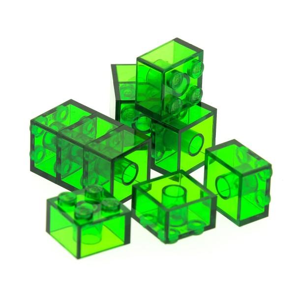 10 x Lego System Glas Bau Stein transparent grün 2x2 Baustein Basic Glasstein Set Minecraft 21118 21137 21127 41196 4143334 6223 35275 3003