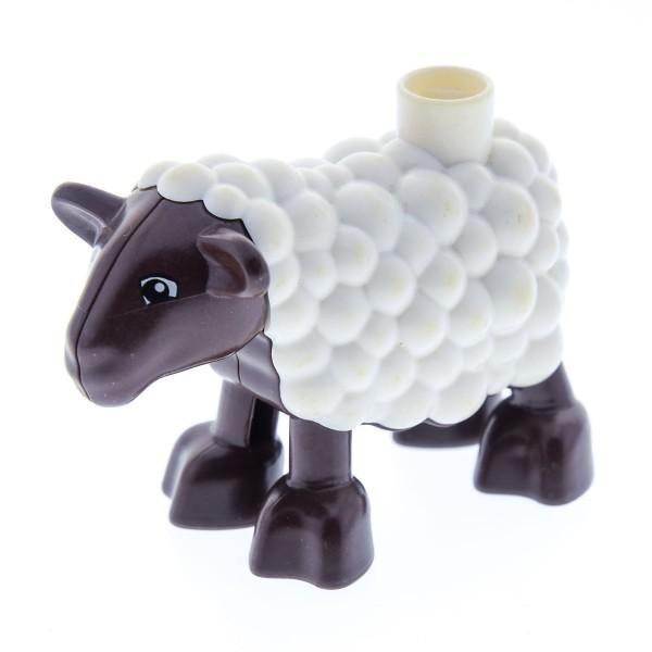 1 X Lego Duplo Tier Schaf Braun Weiss Lamm Hammel Ville