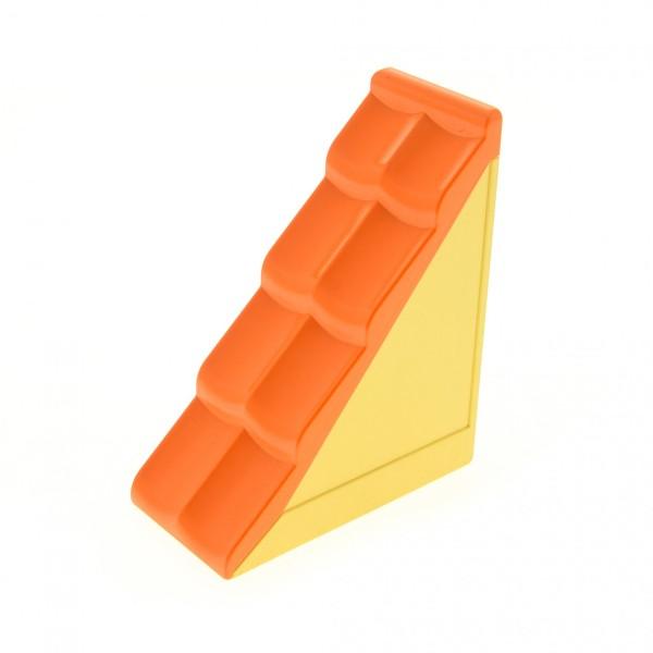 1 x Lego Duplo Dach orange 50° 2 x 4 Base hell gelb Element schmal klein Puppenhaus Bob der Baumeister 3276 31030