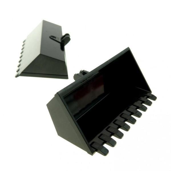 2 x Lego Technic Bagger Schaufel schwarz 4x8 mit 9 Zähnen Digger Bucket Radlader Set 7248 7630 4667 60098 4209729 47508