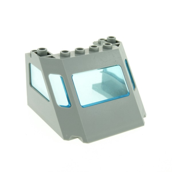 1 x Lego System Cockpit alt-hell grau Fenster transparent hell blau Zug Eisenbahn ICE Kanzel Kuppel Time Cruisers 6493 2917 2918