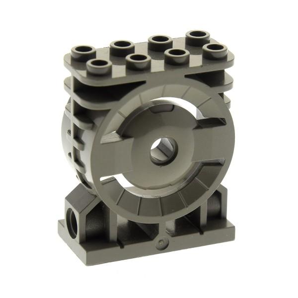1 x Lego System Motorblock Maschine Aufsatz alt-dunkel grau 2x4x4 für Aero Tube Schlauch Rohr Verbinder Life on Mars 7313 Solar Explorer 7315 30535