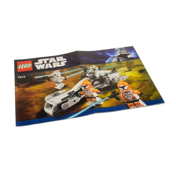 1 x Lego System Bauanleitung A5 für Star Wars Clone Wars Clone Trooper Battle Pack 7913