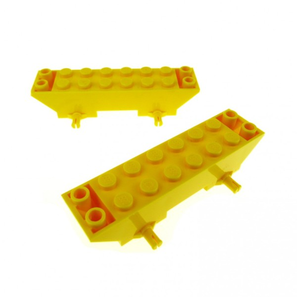 2 x Lego System Fahrgestell gelb 2 x 8 x 1 1/3 Auto LKW Unterbau Platte Chassis 30277