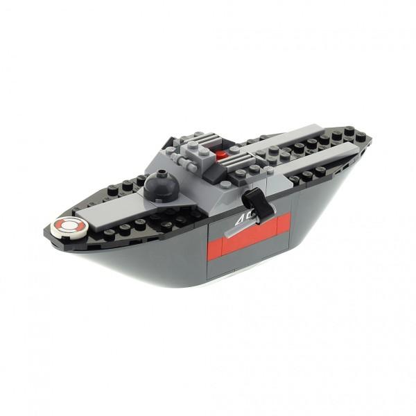 1 x Lego System Teile für Set Modell Cars 8426 Escape at Sea Boot Schiff (485) Flucht auf dem Wasser grau unvollständig