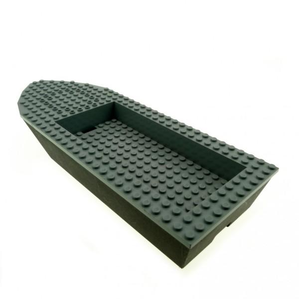 1 x Lego System Boot Rumpf Schiff neu-dunkel grau schwarz 32 x 12 x 4 Police 47858c01