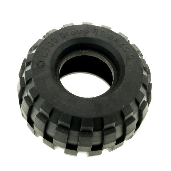 1 x Lego Technic Rad Ballon Reifen schwarz 68.8x40 Q gross solo Technik Auto Fahrzeug Set 5561 8439 8459 8858 2995
