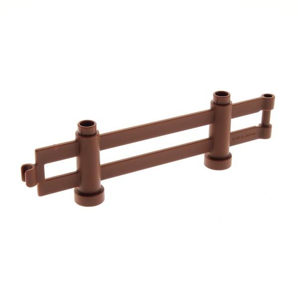 1 x Lego Duplo Zaun reddish rot braun 1x10x2 Zäune Gatter Gehege 47548