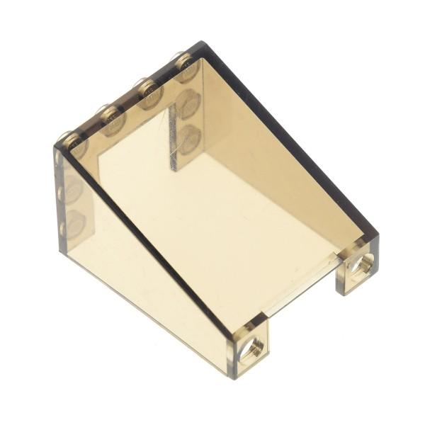1 x Lego System Windschutzscheibe transparent schwarz 3x4x4 Auto Kran Kanzel Cockpit Kuppel Fenster braun Star Wars 10195 7939 7898 4195864 4872