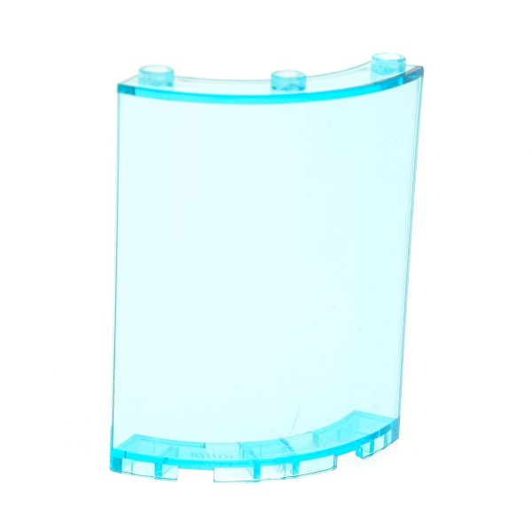 1 x Lego System Fenster transparent hell blau 4x4x6 viertel Zylinder Panele Mauer Wand 30562 46361