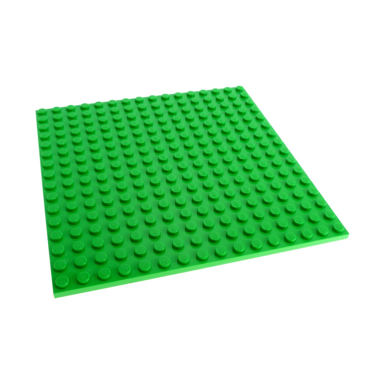 LEGO System Bauplatte 16x16 Noppen hellgrün Rasen beidseitig bespielbar