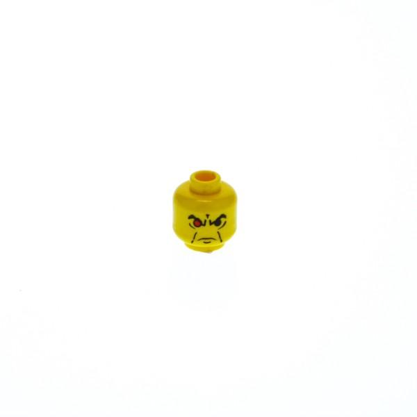 1 x Lego System Kopf Figur Alpha Team Ogel gelb ein Auge rot Gesicht grimmig für alp008 alp029 alp020 3626bpx40