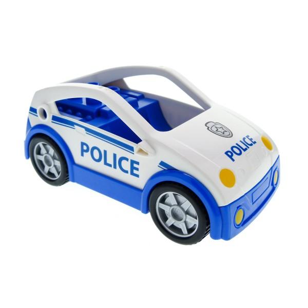 1 x Lego Duplo Auto blau weiß Coupe Polizei Wagen Polizeistreife PKW Police 4963 9229 4287264 53899c01pb01