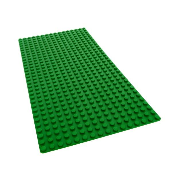 1 x Lego System Bau Basic Grund Platte 16 x 32 grün flach 32 x 16 Noppen 16x32 Wiese Rasen Baseplate 274828 2748 3857