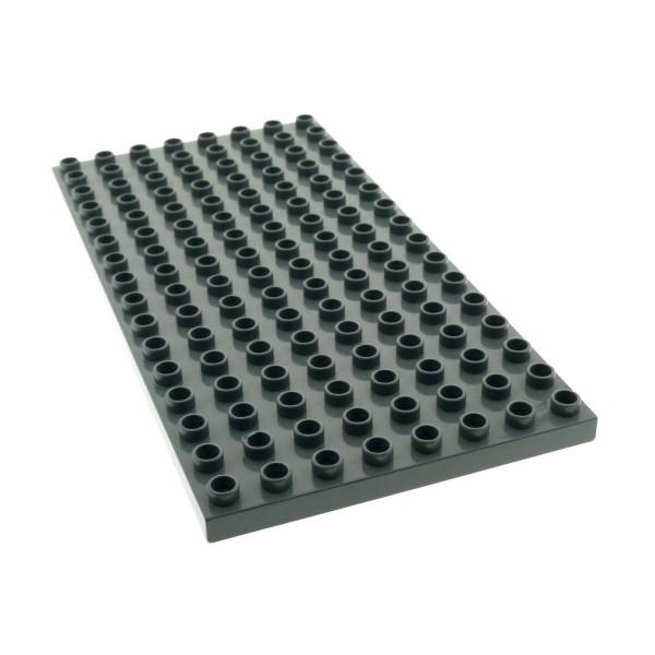 1 x Lego Duplo Bau Basic Platte neu-dunkel grau 8x16 16 x 8 Noppen für Set 4785 9226 9229 9227 4210817 61310 6490