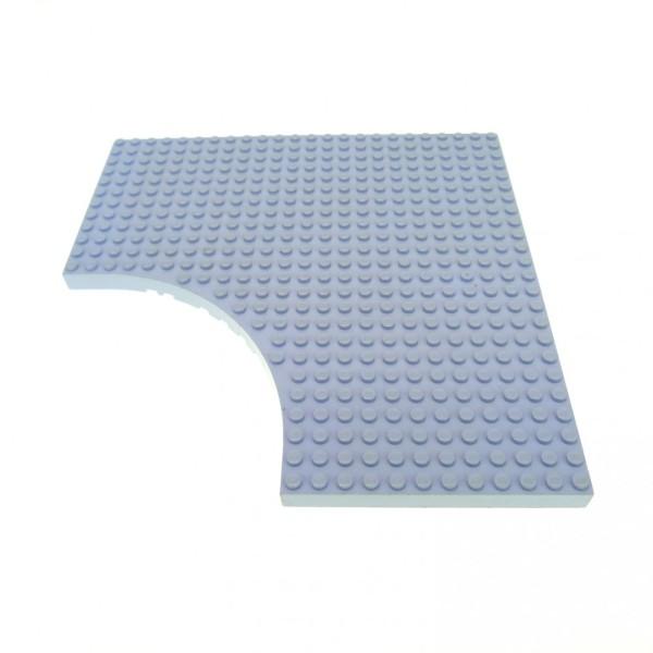 1 x Lego System Bau Platte hell violette lila 24x24 Noppen Belville mit Rundung 12 x 12 12x12 Viertelkreis 6161