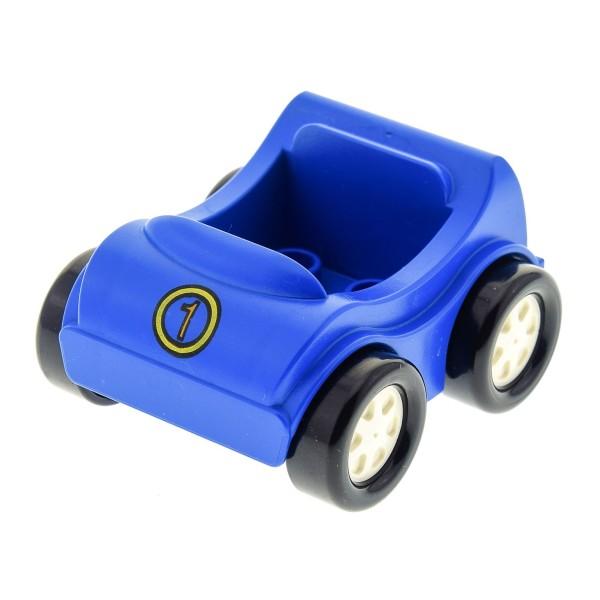1 x Lego Duplo Go-Kart blau mit Nummer 1 Auto PKW Fahrzeug 31363pb05