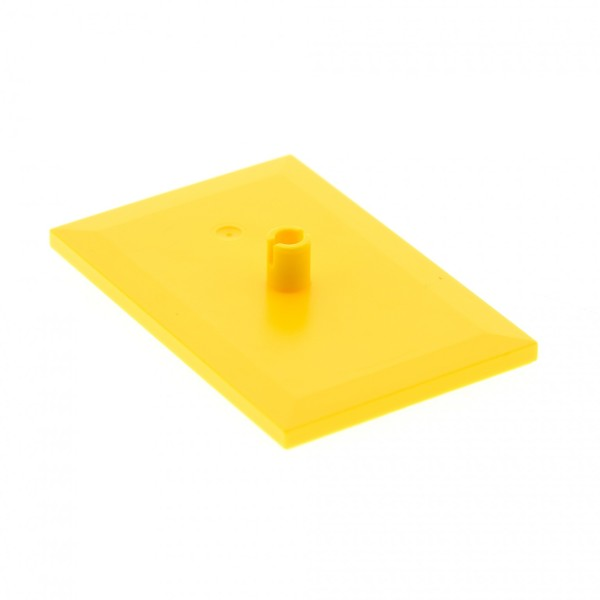 1 x Lego System Platte gelb 6 x 4 mit 5mm Pin Drehplatte Zug Eisenbahn Wagon Train Bogie Plate 60052 7939 60098 60051 7938 3677 15604 4025