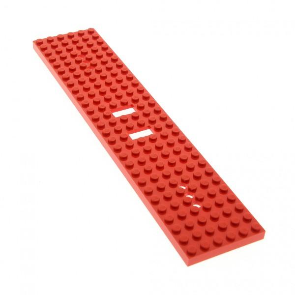 1 x Lego System Zug Grund Bau Basic Platte rot Train Eisenbahn 28 x 6 Noppen Waggon 6x28 (3 Löchern) 5309 4496500 4093a
