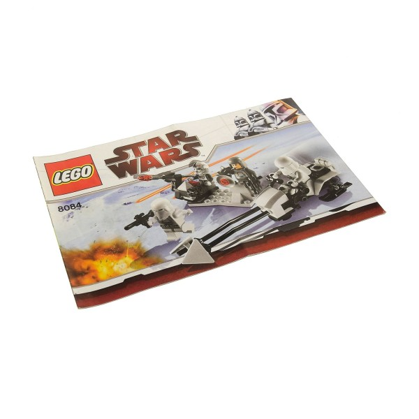 1 x Lego System Bauanleitung A5 für Set Star Wars Episode 4/5/6 Snowtrooper Battle Pack 8084