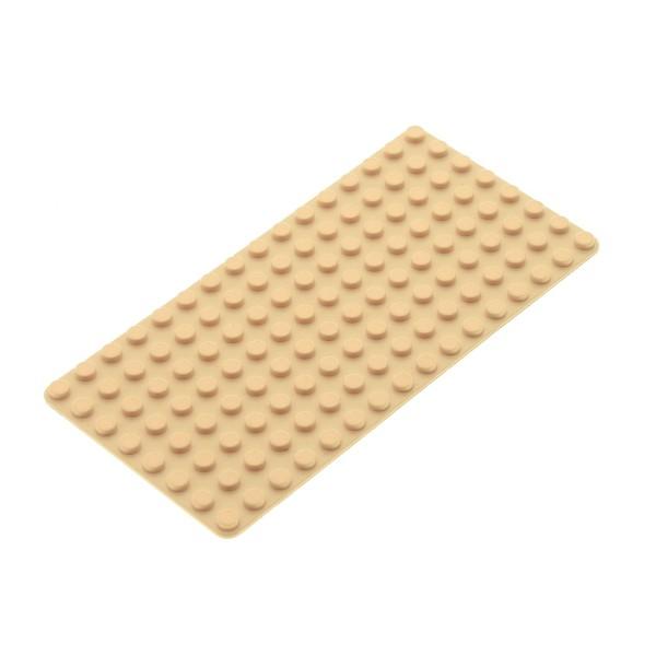 1x Lego Bau Platte beige 8x16 flach Grundplatte Set 3535 7776 6557 3865